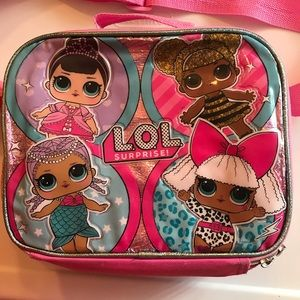 LOL Surprise Sparkly Lunch box  insulated zip up